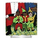 Santa's Workshop Shower Curtain
