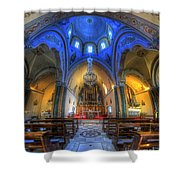 Santorini Cathedral  Shower Curtain
