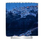 Santorini Greece Shower Curtain