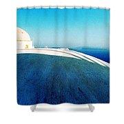 Santorini Island Greece Shower Curtain