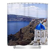 Santorini Panorama 2 Shower Curtain