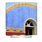Santorini Window Shower Curtain