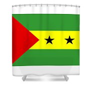 Sao Tome And Principe Flag Shower Curtain