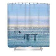 Sapphire Horizon I Shower Curtain