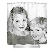 Sarah And Matt Shower Curtain
