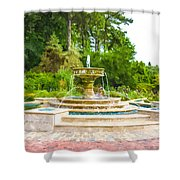 Sarah Lee Baker Perennial Garden 5 Shower Curtain