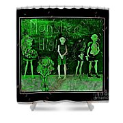 Sarah's Monster High Collection Frankenstein Effect Shower Curtain