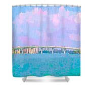 Sarasota Via Ringling Bridge Shower Curtain