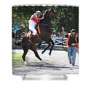 Saratoga Race Track Paddock Shower Curtain
