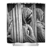 Sarcophagus Of The Crying Women Shower Curtain by Taylan Apukovska