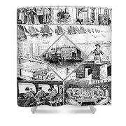 Sardine Fishery, 1880 Shower Curtain