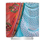 Saree In The Market Shower Curtain