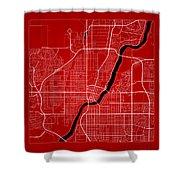 Saskatoon Street Map - Saskatoon Canada Road Map Art On Color Shower Curtain