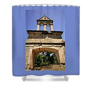Sassia Monastery Bell Tower Shower Curtain