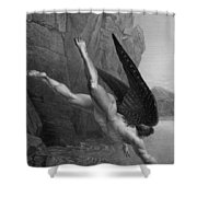 Satan Plunges Into The River Styx Shower Curtain