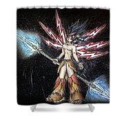 Satari God Of War And Battles Shower Curtain