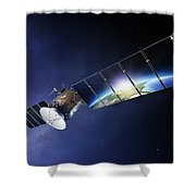 Satellite Communications With Earth Shower Curtain by Johan Swanepoel