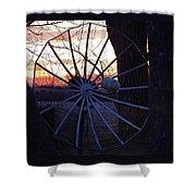 Satellite Sunset Shower Curtain