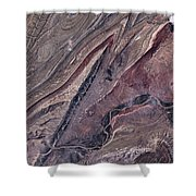 Satellite View Of Big Horn, Wyoming, Usa Shower Curtain