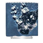 Satellite View Of Montserrat Island Shower Curtain