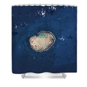 Satellite View Of Rocas Atoll In South Shower Curtain