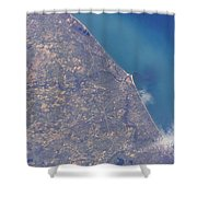 Satellite View Of St. Joseph Area Shower Curtain