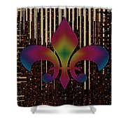 Satin Lily Symbol Digital Painting Shower Curtain