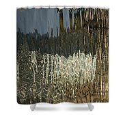 Satin Silk And Moire Abstract - Vertical Shower Curtain