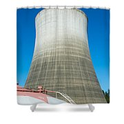 Satsop Ghost Tower Shower Curtain