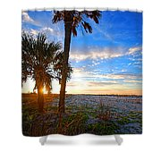Saturated Sunrise Shower Curtain