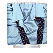 Saturday Morning - Men's Fashion Art By Sharon Cummings  Shower Curtain