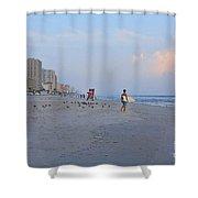 Saturday Morning Surfer Shower Curtain