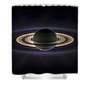 Saturn Shower Curtain by Adam Romanowicz