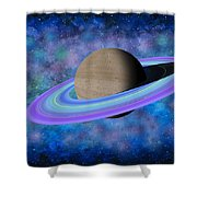 Saturn Journey Shower Curtain