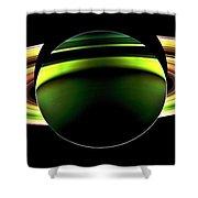 Saturn Shadow Shower Curtain