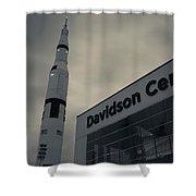Saturn V Rocket Engine Detail, Used Shower Curtain