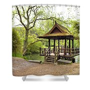 Saumarez Park - Guernsey Shower Curtain by Joana Kruse