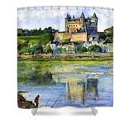 Saumur Chateau France Shower Curtain