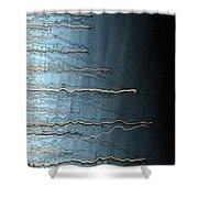 Sausalito Bay California. Stormy. Shower Curtain
