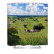 Savanna Landscape In Serengeti Shower Curtain