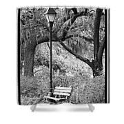 Savannah Afternoon - Black And White Shower Curtain