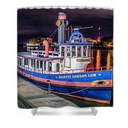 Savannah Belle Dot Ferry Shower Curtain