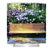 Savannah Bench Shower Curtain by Carol Groenen