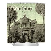 Old Savannah Cotton Exchange Shower Curtain