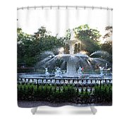 Savannah Georgia Forsyth Park Fountain Shower Curtain
