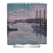 Savannah Harbor 1900 Shower Curtain