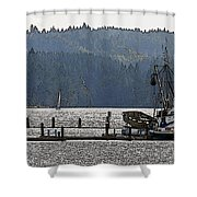 Savannah Jean On Liberty Bay Shower Curtain