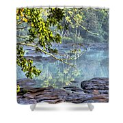 Savannah River In Spring Shower Curtain