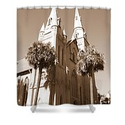 Savannah Sepia - Methodist Church Shower Curtain