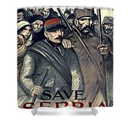 Save Serbia Our Ally Shower Curtain by Theophile Alexandre Steinlen